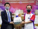タケックス現法、PICOMS大学に除菌製剤を寄贈